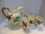 Franciscan Apple Pitcher And 5 Tumblers