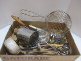 Vintage Kitchen Utensils:  Ladle, Sifter, Serving Spoons, And More