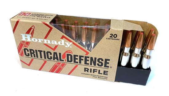 NIB 20rds. of .308 WIN. Hornady Critical Defense Rifle 155gr. FTX Ammunition