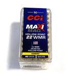 NIB 50rds. of .22 WIN. MAG. CCI Maxi-Mag 40gr. Hollow Point Ammunition