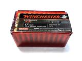 NIB 50rds. of 17 HMR Winchester Varmint LF 15.5gr. Polymer Tip NTX Ammunition