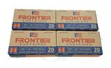 NIB 80rds. of .223 REM. Hornady Frontier 68gr. BTHP Match Brass Ammunition