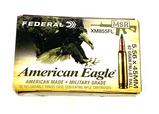 NIB 20rds. of 5.56 x 45mm Federal American Eagle MSR 62gr. FMJ-BT Ball Ammunition