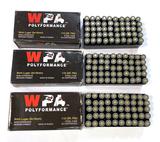 NIB 150rds. of 9MM Luger WOLF Polyformance 115gr. FMJ Steel Case Ammunition