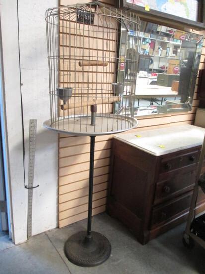 Hendryx Bird Cage On Iron Stand