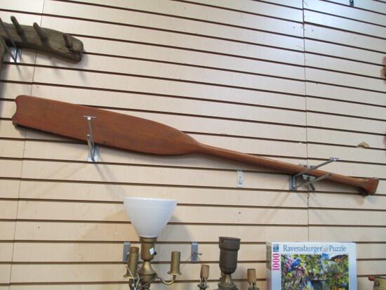 Pair Of Vintage Wooden Rowing Oars