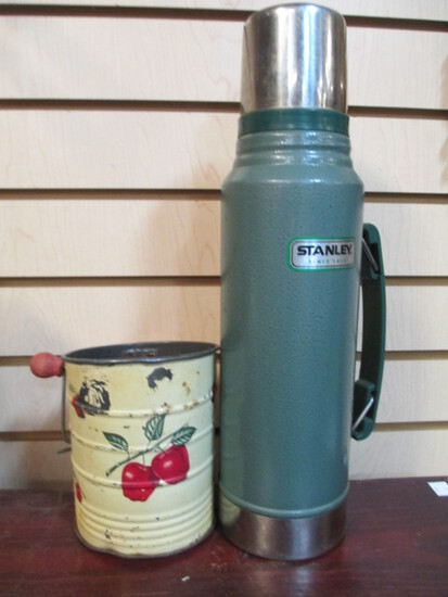 Stanley Insulated Bottle And Vintage Sifter
