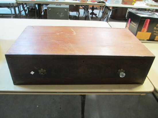 Primitive Wooden Storage Drawer/Base With Dovetail Construction