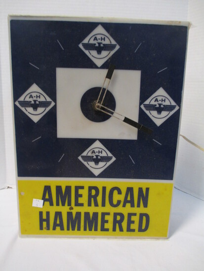 """Hagen Advertising """"American Hammered"""" Electric Wall Clock"""