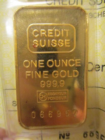 1 oz. .999 Fine Gold Bar