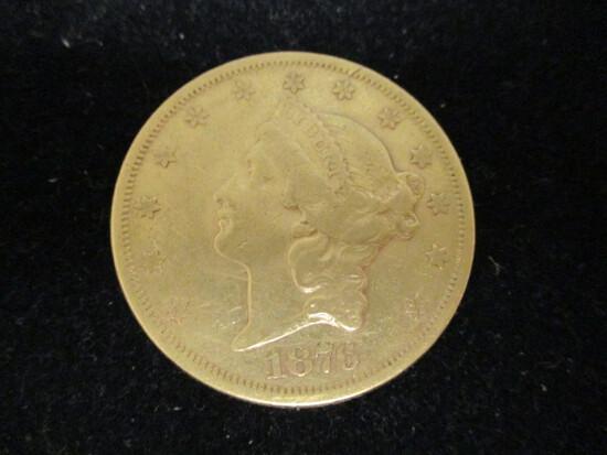 1876S Twenty Dollar Gold Double Eagle