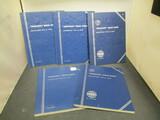 5 Partial Books of Mercury Dimes