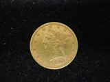 1880 Five Dollar Gold Half Eagle