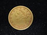 1894 Five Dollar Gold Half Eagle