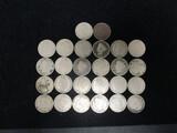 Lot of 26 V-Nickels
