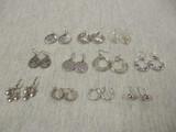 Silver Tone Pierced Earrings