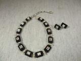 Elegant Vintage Bogoff Necklace & Clip On Earrings