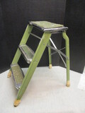 Vintage Beautyware Metal Folding Step Ladder - See All Photos