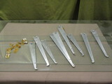 3 Glass Shelves w/Brackets - See All Photos - Some Chips on Edge