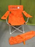 Clemson Folding Chair W/Carry Bag