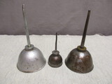 3 Vintage Oil Cans - See Photos for Markings