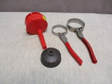 1 Oil Can Spout & 3 Oil Filter Wrenches