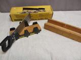 Stanley Mitre Box w/Saw & Wood Mitre Box