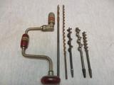 Nice Craftsman Drill Brace & 5 Bits