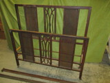 Vintage All Metal Bed w/Rails - Brackets Not Included