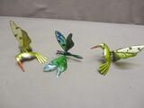 2 Humming Bird & 1 Dragonfly Pot Hangers