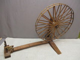 Small Vintage Oriental Spinning Wheel - Very Unique