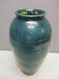 Beautiful Hand Thrown Pottery Stone Ware w/Unusual Green Glaze