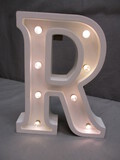 White Letter R Wall Décor - Battery Operated
