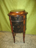 Very Unique Round Table w/Drawer & Door Made By Ethan Allen