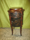 Very Unique Round Table w/Drawer & Door Made By Ethan Allen - Matches Lot #3