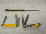 3 Vintage Knives - 1 is Melon Knife - See All Photos