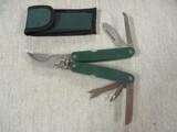 Folding Garden Pruner w/Multi  Tools & Pouch for Belt  - Looks New
