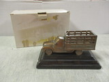 Badcock Furniture 100th Anniversary Collectable Bronze Delivery Truck Limited Edition