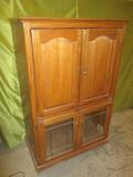 Oak w/Glass Doors Cabinet