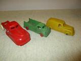 3 Vintage Plastic Toy Trucks