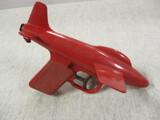 Vintage 1950's Red Plastic Jet Squirt Water Pistol