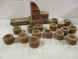Wooden Toy Truck w/Wooden Wheels