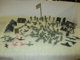 Vintage Plastic Toy Soldiers, Plains, Tents etc. - See All Photos