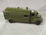 Hubley Kiddie Toy No. 504 Vintage Pressed Steel Bell Telephone Truck