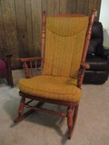 Tell City Spindle Back Rocking Chair with Cushions
