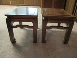 Pair of Asian Tables that Convert to Stools