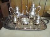 International Silver Co. Georgian Court Silver Soldered Six Piece Tea/Coffee Service