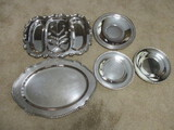 Five Silverplated Trays and Platters
