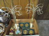 Pair of Ornament Hangers, Jim Shore Ornament, 4 Reed & Barton 12 Days of Christmas Ornaments,