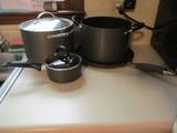 Griddle, Anodized Aluminum Stock Pot, Tools of the Trade 1 Qt. and 8 Qt. Pots